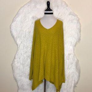 Eillen Fisher Yellow/Green Symmetrical Hem Top